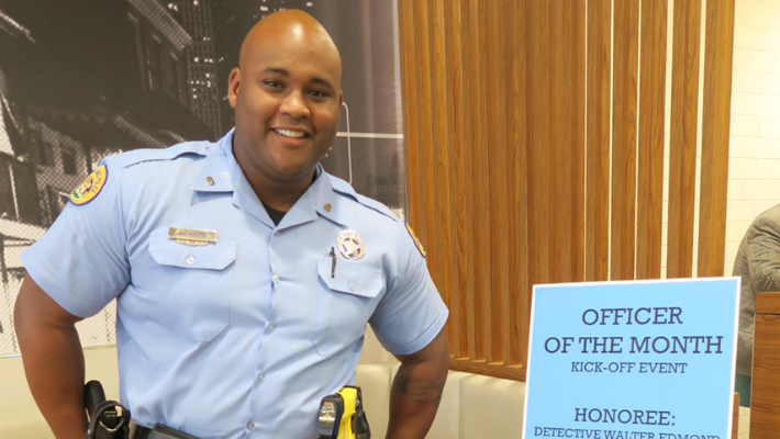 Sixth District Detective Walter Edmond Named Bardell Co. Officer of the Month
